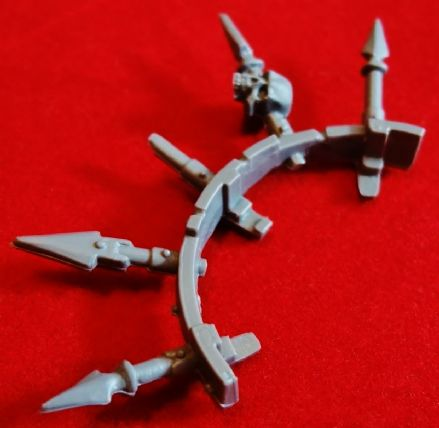 Chaos Space Marine Tank Vehicle Hatch Collar Spikes (A)